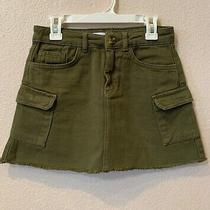 Nwt Zara Kids Girls Garment Dyed Cargo Denim Mini Skirt Size 10 Photo