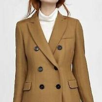 Nwt Zara Woman. Manteco Double Breasted Wool Coat. Sz. Xs Photo