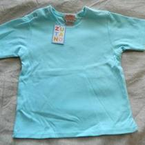 Nwt Zutano Baby Cotton Short Sleeve Solid Aqua T-Shirt 18-24 Months Photo