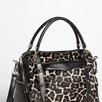 Nwts 595 Rebecca Minkoff Cupid Leather & Calf Hair Snow Leopard Satchel Large  Photo