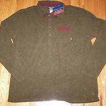 Nwts Patagonia Mens Ultra Soft Green Murrelet Fleece Polo Sweater  Xxl Slim Fit Photo