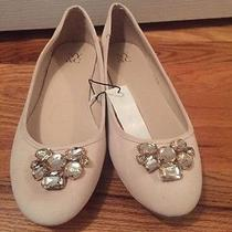ny&co Ballet Flats. Sueded. Blush Color. Jeweled Accent. Women's Size 9 Photo