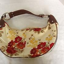 Ny & Co Canvas Floral Hobo Purse Casual Trendy  Photo