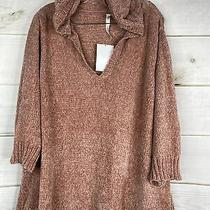 Ny Collection Womens Plus 3x Blush Pink Long Sleeve Chenille Hooded Sweater New Photo