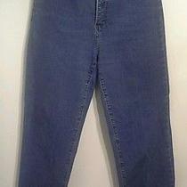 Nydj Denim Size 8 Cropped Cuff Rhinestone Bling High Waist Tummy Tuck Jeans Photo