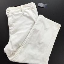 Nydj Not Your Daughter's Jeans White Tummy Tuck Capri Crop Pants Size 6p Usa B2 Photo