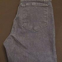 Nydj Not Your Daughters Dark Blue Rolled Cuff Capri With Bling Jeans Size 4p Euc Photo