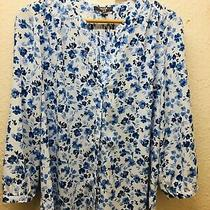 Nydj Not Your Daughters Jeans Blue White Floral Top Uk S Photo