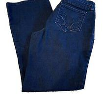 Nydj (Not Your Daughters Jeans) Bootcut Dark Wash Stretch Size 8 Gem Pockets Photo