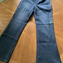 Nydj Not Your Daughters Jeans Dark Wash Charcoal Bootcut Jeans Womens Size 6 Photo
