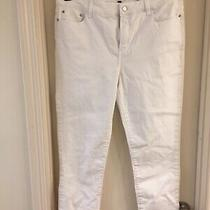 Nydj Not Your Daughters Jeans White Cuffed Ankle Jeans Size 16 Euc Photo