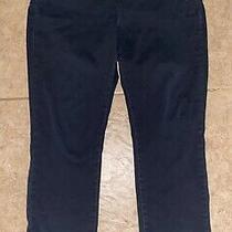 Nydj Not Your Daughters Jeans Womens Alina Legging Stretch Denim Black Sz 16 Photo