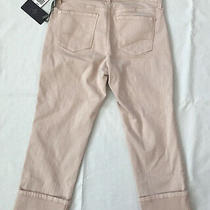 Nydj Rosewater Blush  Dayla Wide Cuff Capris Style P77n31dt4052 Nwt - Size 6p Photo