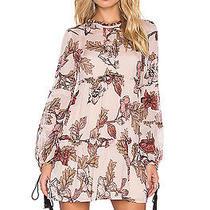 O for Love & Lemons Santa Rosa Mini Dress Blush Floral Nwt L Photo