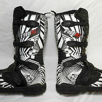 Oneal Black White Element Ii Piston Pro Dirt Bike Mx Motox Motocross Boots 13 Photo