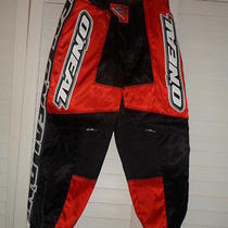 o'neal Element Atv/motorcycle Pants Kids 5t/6t Nwot Red White Grey Photo