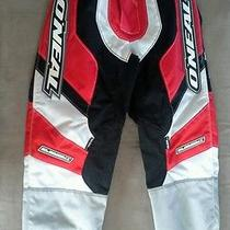 o'neal Element Atv/motorcycle Pants Kids 8t/10t Nwot Red White Grey Photo
