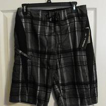 o'neill Board Shorts Swim Trunks Swim Suit Black Size 29 Nixon Print Photo
