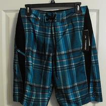 o'neill Board Shorts Swim Trunks Swim Suit Blue Green Size 28 Nixon Print Photo
