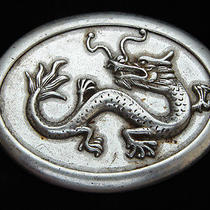 Oa29143 Really Cool Chinese Dragon Fantasy Art Silvertone Belt Buckle Photo