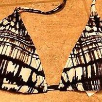Oakley Bikini Top Black White Swimsuit Padded Small Swimwear Bathing Suit String Photo