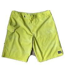 Oakley Black White Spellout Logo Swim Trunks Board Shorts Men's Size 38 Photo
