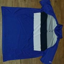 Oakley Blue Striped Polo Photo