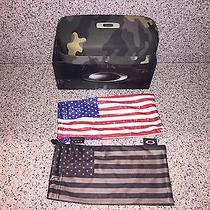 Oakley Camo Hard Case & 2 Usa Flag Microfiber Cleaning Bags - New Photo