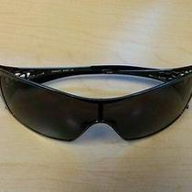 Oakley Dart Women's Sunglasses Chrome With Black Lenses Photo