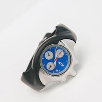 Oakley Detonator Black Unobtainum/blue Face Dial Watch Photo
