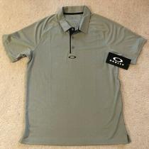 Oakley Elemental 2.0 Stone Gray Golf Polo Shirt Sz Regular Fit M New Photo