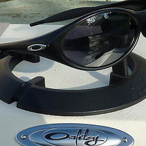 Oakley Eye Jacket Black/black Irid Sunglasses Photo