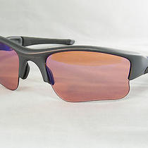 Oakley Flak Dark Grey Sunglasses With Custom Lenses Photo