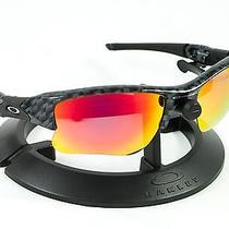 Oakley Flak Jacket Xlj Carbon Fiber Frame & Revant Midnight Sun Polarized Lenses Photo