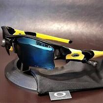 Oakley Flak Jacket Xlj Custom Polarized Black W/navy Lenses & Team Yellow Socks Photo