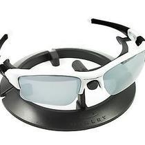 Oakley Flak Jacket Xlj Polished White Frame & Revant Titanium Custom Lenses Photo