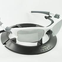 Oakley Flak Jacket Xlj Polished White Grey Frame & Revant Titanium Custom Lenses Photo