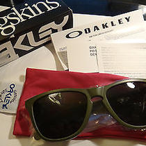 Oakley Frogskins Matte Moss/dark Grey Rare Heaven Earth Sunglasses Medusa Juliet Photo