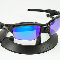 Oakley Half Jacket 2.0 Xl Black Frame W/ Revant Ice Blue Polarized Custom Lenses Photo