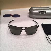 Oakley Inmates Brushed Chrome W Case and Lenses Photo
