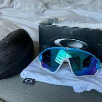Oakley Jawbreaker Sunglasses Sky Blue/white Sapphire Iridium Photo