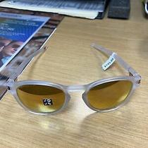 Oakley Latch Sunglasses Matte Clear/prizm Rose Gold Polarized Oo9265-5253 Photo
