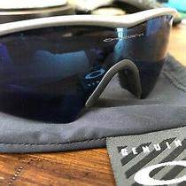 Oakley M Frame 1.0 Gray Frame Cobalt Blue Mirrored Lens  Sunglasses Photo