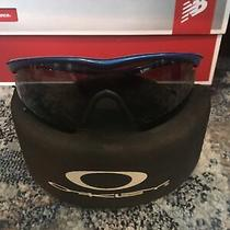 Oakley M-Frame Sunglasses Blue With Case Photo