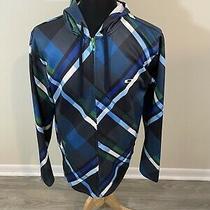 Oakley Men's Full Zip Hoodie Sweatshirt Jacket Blue Size L Photo