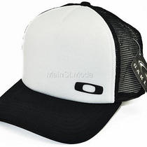 Oakley Men Square O Mesh Trucker Snapback Golf Surf Factory Black White Hat Cap Photo