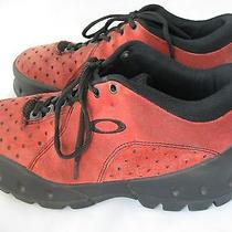 Oakley Mens  Lace Up Suede Athletic Hiking Red Oxfords Sports Shoe Size 11 Photo