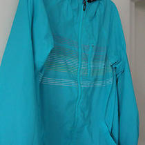 Oakley Mens Xl Aqua Lightweight Jacket Lined Windbreaker Hooded Surf Kayak Mint  Photo