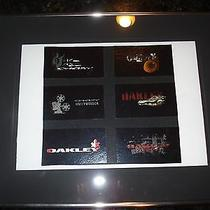 Oakley One of a Kind Oakley Frame With Promotional Stickers- Rare Unique Photo