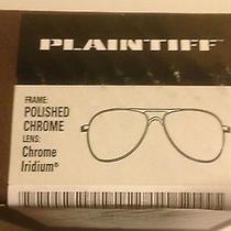 Oakley Plaintiff Polished Chrome/chrome Iridium Packaging Only With New Microbag Photo